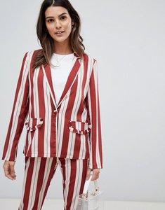 Read more about Vila frill pocket stripe blazer - sandshell