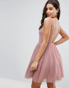 Read more about Asos embellished strap mini tulle dress - mink