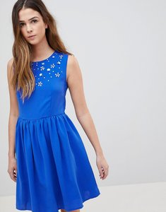 Read more about Qed london skater dress with embellished detail - royalblue