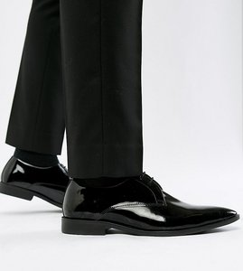 Read more about Frank wright wide fit derby shoes in patent leather - black