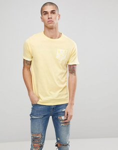 Read more about Brave soul palm tree pocket t-shirt - yellow