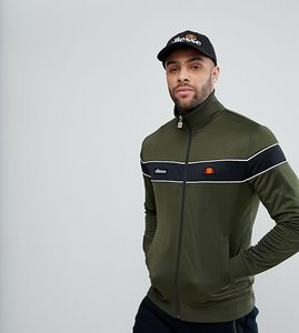 Read more about Ellesse poly tricot track jacket with funnel neck - green