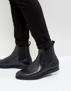 Read more about Zign leather wedge chelsea boots - black