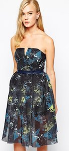 Read more about Three floor in motion strapless dress in printed mesh - multi