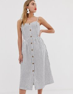 Read more about Only stripe button through cami dress