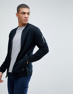 Read more about Jack jones core sweat bomber with zip arm pocket - black