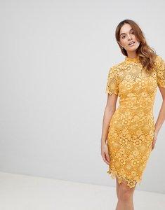 Read more about Paper dolls mustard daisy crochet dress - mustard gold
