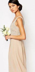 Read more about Maya tonal embellished midi dress - mink