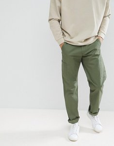 Read more about Farah pine cargo twill trousers in green - 302 military green