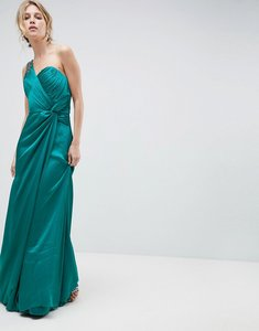 Read more about Little mistress one shoulder maxi dress with ruched detail