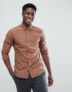 Read more about Selected homme slim fit shirt - cocoa brown