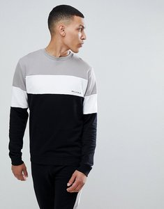 Read more about Bellfield sweatshirt in colour block - mink white black