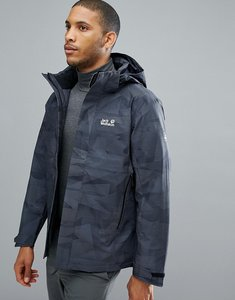Read more about Jack wolfskin mountain edge camo jacket in black - 7544 black all over