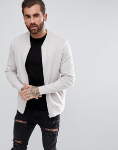 Read more about Asos jersey bomber jacket in off white - antique