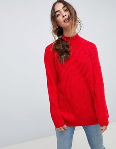 Read more about Vero moda knitted high neck jumper - chinese red