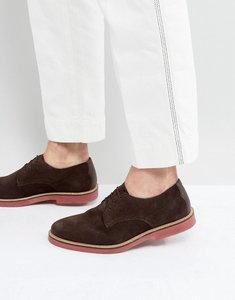 Read more about Kg by kurt geiger morcombe derby shoes with contrast sole brown - brown
