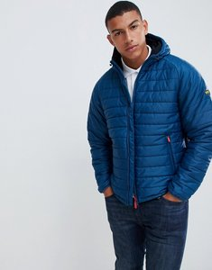 Read more about Barbour international locking hooded jacket in petrol blue - blue