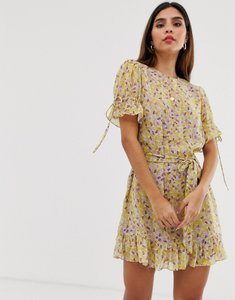 Read more about The east order arlo floral mini dress with belt