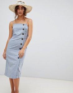 Read more about Warehouse linen column button dress - blue
