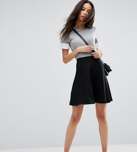 Read more about Asos tall mini skater skirt with pockets - black