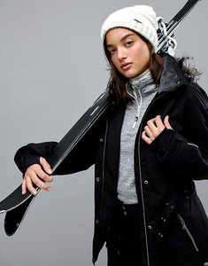 Read more about Killtec function belted ski jacket with detachable hood - black