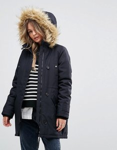 Read more about Vero moda faux fur hooded parka - black beauty