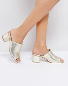 Read more about Oasis heeled mule - gold