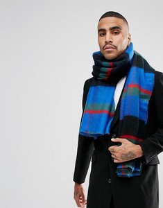 Read more about Asos blanket scarf in green and blue stripe - green blue