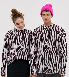 Read more about Collusion unisex jumper in zebra