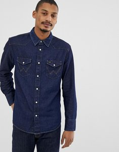 Read more about Wrangler icons 27mw western denim shirt in new rinse wash