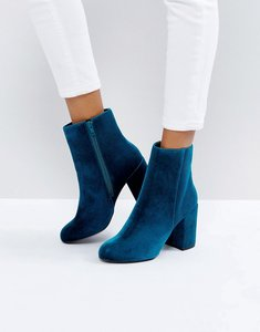 Read more about New look teal velvet ankle boot - blue