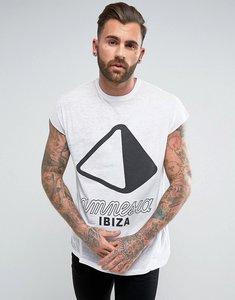 Read more about Asos amnesia ibiza oversized sleeveless t-shirt with burnout wash - white