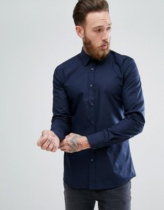 Read more about Hugo extra slim fit poplin shirt in navy - navy