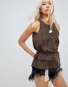 Read more about Maison scotch printed vest with tassel sides - 21 combo e