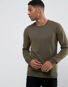 Read more about French connection lightweight crew neck jumper - green
