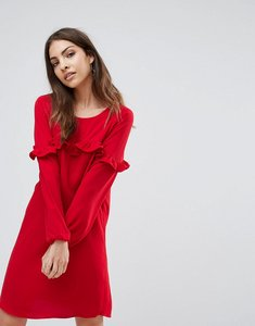 Read more about Only alex frill shift dress - tango red