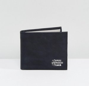 Read more about Element dogma embossed logo leather wallet in black with coin pocket - black