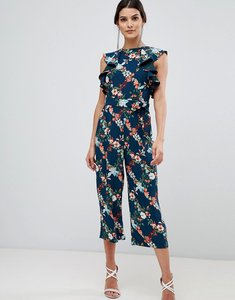 Read more about Oasis fitzwilliam collection jumpsuit in floral print with frill shoulder - multi