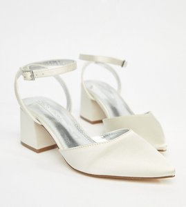 Read more about Asos scarlette bridal mid heels - ivory