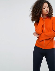 Read more about Asos cardigan with zip through and fluted sleeves - orange