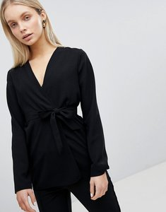 Read more about Asos design tailored soft blazer with self belt - black