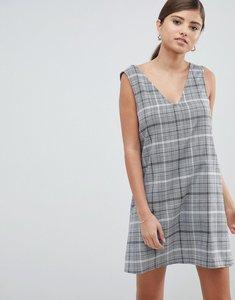 Read more about Asos design check mini shift dress - mono