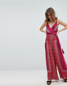 Read more about Free people cabbage rose print jumpsuit - pink combo