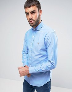 Read more about Polo ralph lauren twill shirt slim fit cutaway collar in blue - blue