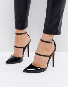 Read more about Asos picture perfect pointed high heels - black patent