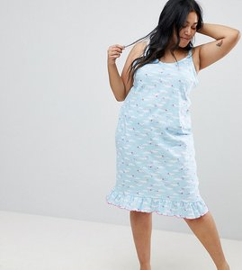 Read more about Yours clothing cloud cami nightdress - blue