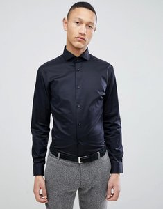 Read more about Selected homme slim fit smart shirt with spread collar - black