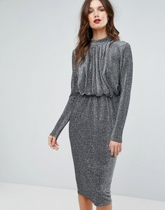 Read more about Y a s glitter dress - silver lurex