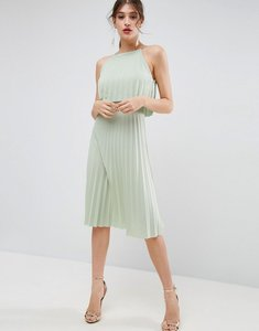 Read more about Asos pleated crop midi dress - mint green