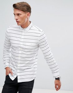 Read more about French connection shirt with stripe - white marine blue